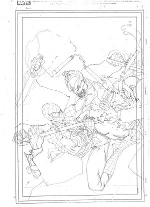 Amazing Spider-Man #547 Prelim by Steve McNiven