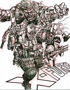 X-Force #8 Cover Recreation by Eric Canete