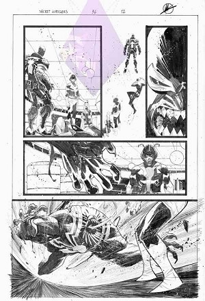 Secret Avengers 36/12 by Matteo Scalera