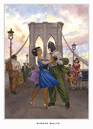 Minute Waltz-Blacksad Canvas Art by Juanjo Guarnido