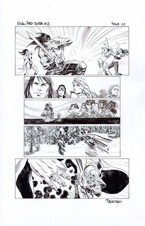 Conan-Red Sonja #2 p.22 by Dan Panosian