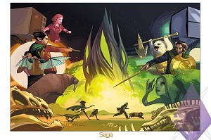 Limited-Edition Saga #25 Giclee by Fiona Staples