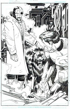 Superman Issue #34 p.18 by Klaus Janson