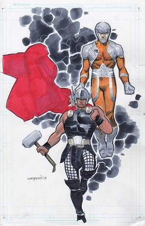 Thor & XO Manowar by Cary Nord